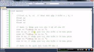 [Lập trình C/C++] Giải phương trình bậc 2