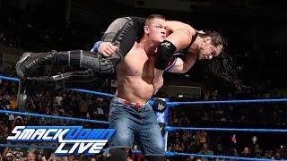 John Cena vs Baron Corbin SmackDown LIVE Jan 10 2017