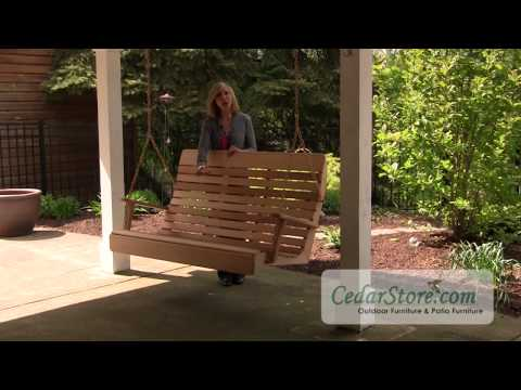 Red Cedar Royal Highback Porch Swing From Cedarstore