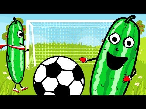 Nauka Kolorów Dla Dzieci - Piłka Nożna Z Ogórkiem | CzyWieszJak