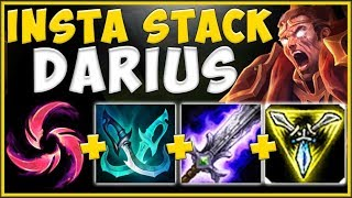 100% UNFAIR BUILD TO INSTANTLY HIT 5 STACKS WITH DARIUS! DARIUS TOP SEASON 10! - League of Legends