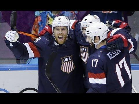 US Beats Russia 3- 2 in Ice Hockey at SOCHI