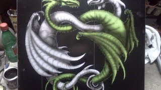 Airbrush  dragons