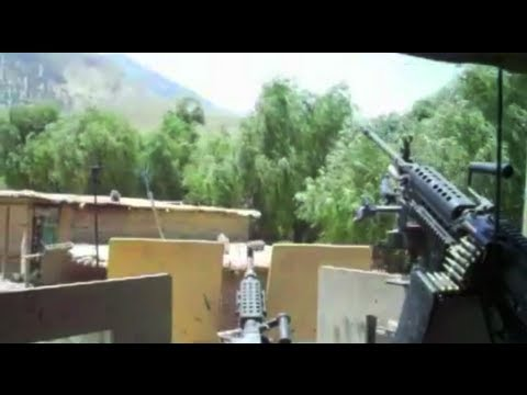 MACHINE GUNNER HIT BY 2 RPGs