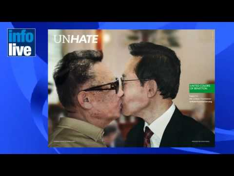 Netanyahu and Abbas lock lips in controversial new Benetton ad