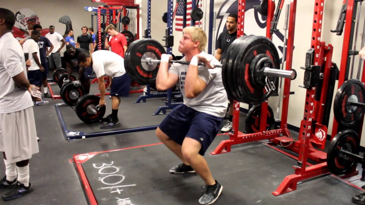 2013 CSU Pueblo Football Strength And Conditioning Testing