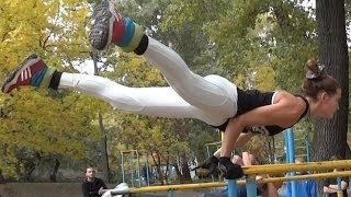 Street Workout Motivation in Ukraine - Amazing Female Workout
