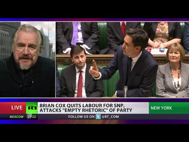 Actor Brian Cox quits Labour for Scottish National Party - Why?