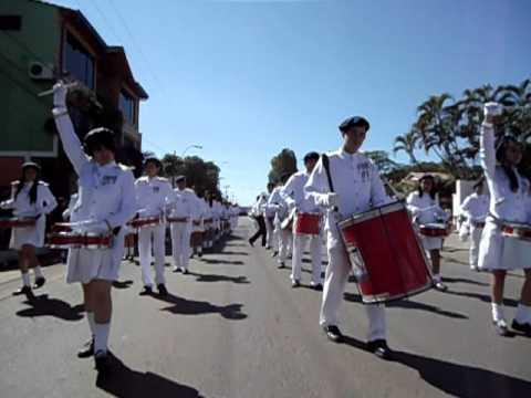 Desfile - BICENTENARIO de PARAGUAY - Bandaliza del Colegio Nacional de E.M.D. Dr. Pedro P. Peña