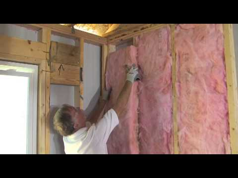 Installing Owens Corning EcoTouch Wall Insulation - Part 1