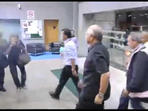 Prime Minister Najib Razak arrives at Kuala Lumpur Airport