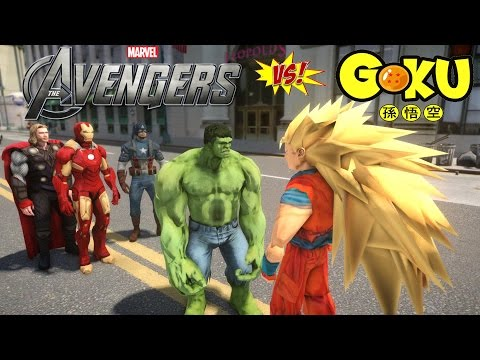 The Avengers vs Goku - Hulk, Iron Man, Captain America and Thor vs Goku - EPIC BATTLE
