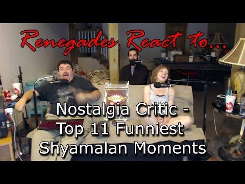 Renegades React to... Nostalgia Critic - Top 11 Funniest Shyamalan Moments