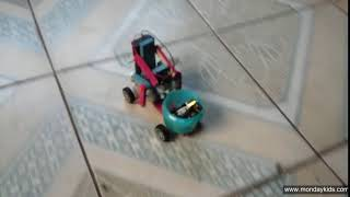 DIY Funny Toys For Kids to Improve Hands-on Ability - Back Drive Motor Car