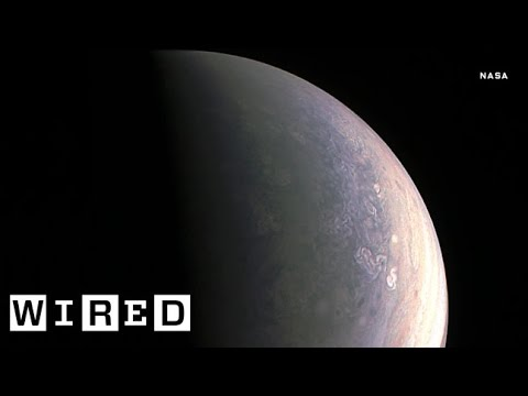Your First Look at Jupiter's Gorgeous North Pole | WIRED