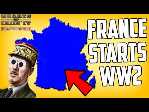 Hearts of Iron 4 HOI4 France Starts WW2 by Telling Germany NO Challenge