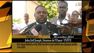 VIDEO: Haiti - Senatè John Joel Joseph explike visit kek Diplomat Americain nan chanm sena a