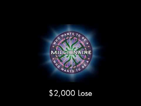 $2,000 Lose - Who Wants To Be A Millionaire? video