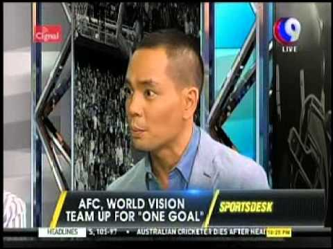 World Vision and AFC talk about 'One Goal' on CNN Philippines' Sports Desk