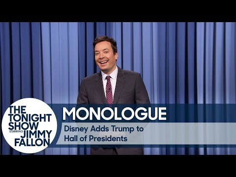 Disney Adds Trump to Hall of Presidents - Monologue