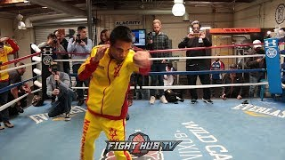 SOR RUNGVISAI WORKING ON UPPERCUTS & POWER HOOKS; GALLO ESTRADA BANKING ON SPEED IN TITLE FIGHT