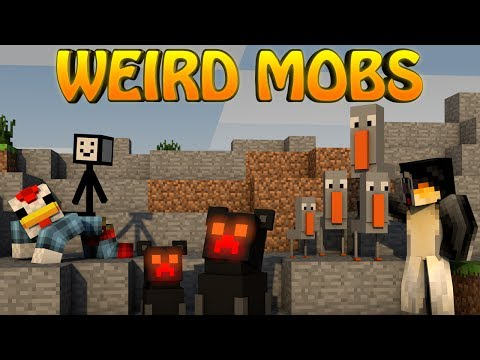 Minecraft WEIRD MOBS MOD Showcase Mutants Horror Mobs Mini Bosses