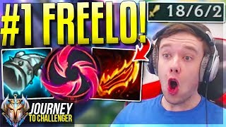 #1 MOST OP CHAMPION IN LEAGUE!!!!!! FREELO - Journey To Challenger | League of Legends