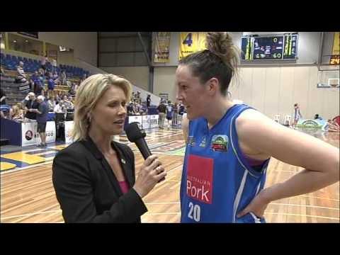 WNBL Round 2 (Bendigo v Canberra) Gabe Richards Interview #WNBL