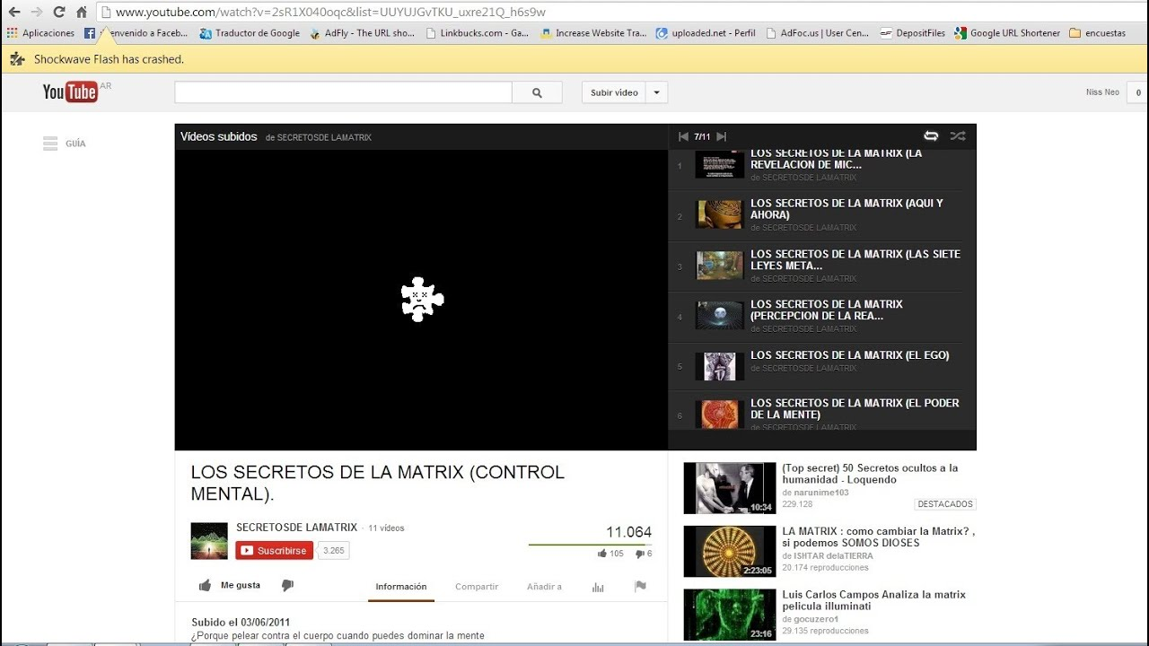 Shockwave flash has crashed solucionar para google chrome youtube