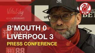 Bournemouth 0-3 Liverpool | Jurgen Klopp Press Conference