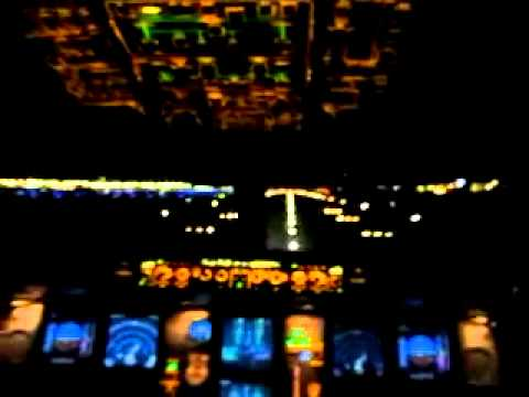 Airbus A330 Cockpit at Night Airbus A330 Night Take Off