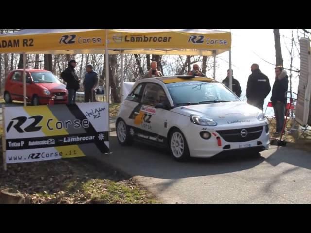 Rally Opel Adam R2 Ufficiale - Rally Test Italia 2015