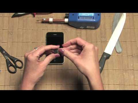 Iphone 4 - Jak Zrobić Kartę MicroSIM - Wystarczą Nożyczki I Nóż. Micro SIM Card