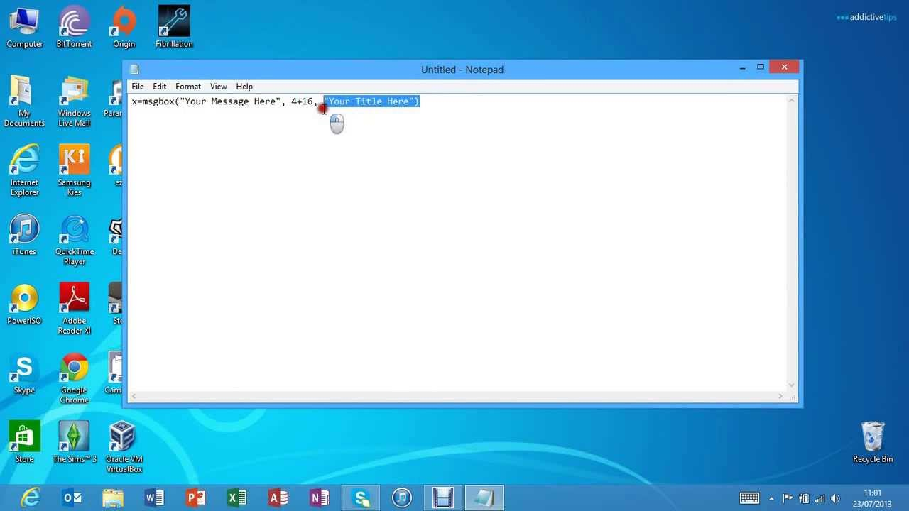 How to create fake error messages in windows 8 pro youtube for How to design windows