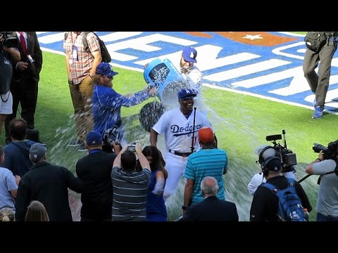 Jimmy Rollins Gets Soaking Today - Welcome to Dodgers!