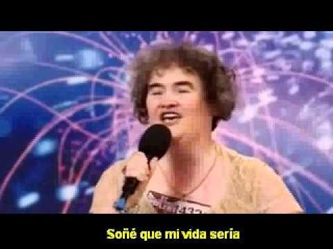 Susan Boyle I dreamed a dream (Subtitulos en español)