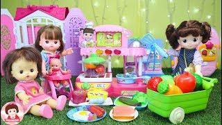 ละครสั้น ร้านอาหารของคองซูนิ เล่นทำอาหาร Baby Doll Play Time