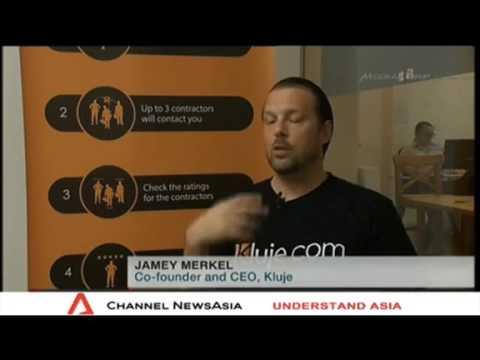 Kluje Featured on Channel News Asia   Singapore Tonight  kluje com
