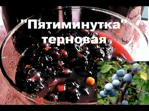 Быстрый рецепт варенья из тёрна