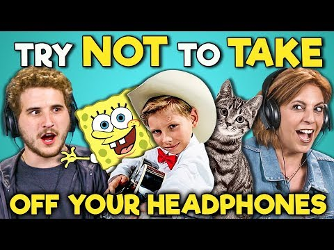 ADULTS REACT TO TRY NOT TO TAKE OFF YOUR HEADPHONES CHALLENGE