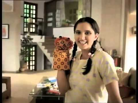 Sania Mirza in funny Indian commercial   Classic Old Indain...
