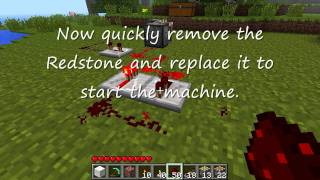 Minecraft Patch 1.7.2 Infinite Block Duplicator with Pistons Step by Step Tutorial