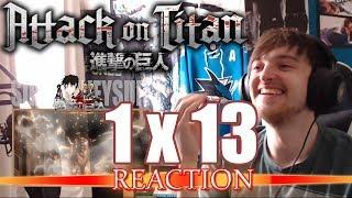 """Attack on Titan: Season 1 - Episode 13 REACTION """"ATLAS!"""""""