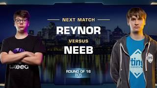 Reynor vs Neeb ZvP - Round of 16 - WCS Montreal 2018 - StarCraft II