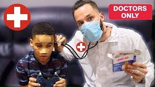 Doctor Daddy Saves Son Kids Pretend Play