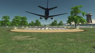 Cities: Skylines Takeoff and landing of the airplane 飛行場を眺める