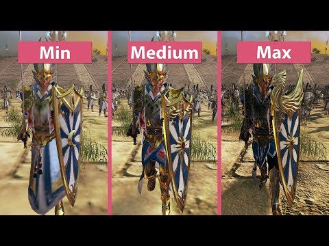 Download video Total War Warhammer 2 – PC 4K Min vs. Medium vs. Max Graphics Comparison Frame Rate
