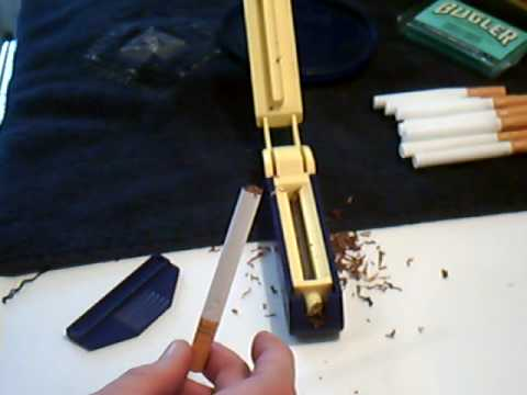 Rolling your own cigarettes