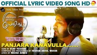 Panjara Kanavulla Lyric Song HD | Angane Njanum Premichu | Hesham Abdul Wahab | Vijay Yesudas