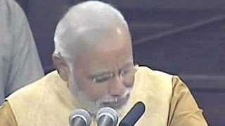 Narendra Modi's Emotional Speech in Parliament
